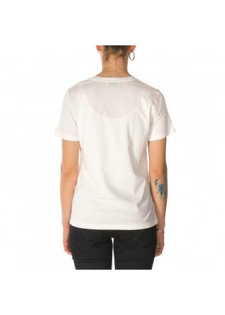 WOMEN'S CLOTHING T-SHIRT COTTON WHITE ORANGE DONDUP