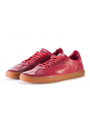 MEN'S SHOES SNEAKERS LEATHER RUBBER RED CARAMEL MANOVIA 52