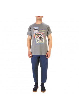 UNISEX CLOTHING T-SHIRT GRAPHITEE BIO COTTON 'DACHSHUND' PRINT GREY WRAD