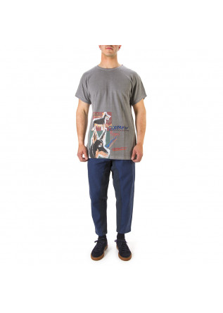 UNISEX CLOTHING T-SHIRT GRAPHI-TEE PRINT 'DOBERMANN' GREY WRAD
