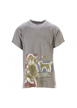 UNISEX CLOTHING T-SHIRT GRAPHI-TEE 'GOLDEN RETRIEVER' GREY WRAD
