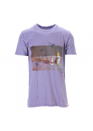 UNISEX CLOTHING T-SHIRT 100% ORGANIC COTTON PRINT LEGO PURPLE WRAD