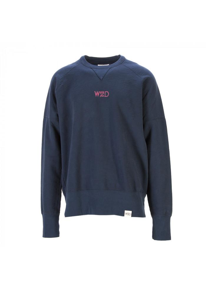 UNISEX CLOTHING SWEATSHIRT 100% ORGANIC COTTON NAVY BLUE WRAD