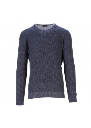 MEN'S CLOTHING SWEATER COTTON BLUE MELANGE JURTA