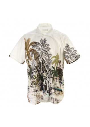 MEN'S CLOTHING SHIRT PALMS CREAM WHITE TINTORIA MATTEI 954