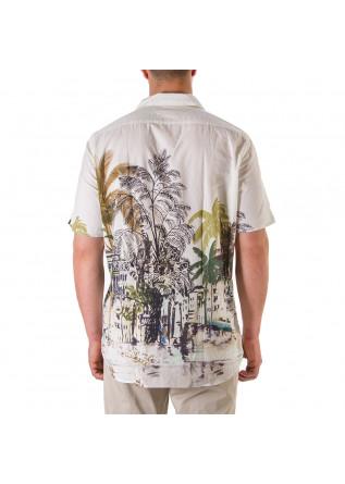 MEN'S CLOTHING SHIRT PALMS CREAM WHITE TINTORIA MATTEI 954