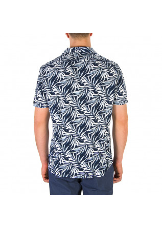 MEN'S CLOTHING SHIRT FLOWERS BLUE WHITE LIGHT BLUE TINTORIA MATTEI 954