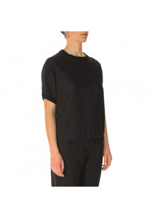 WOMEN'S CLOTHING SHIRT LINEN COTTON BLACK OTTOD'AME