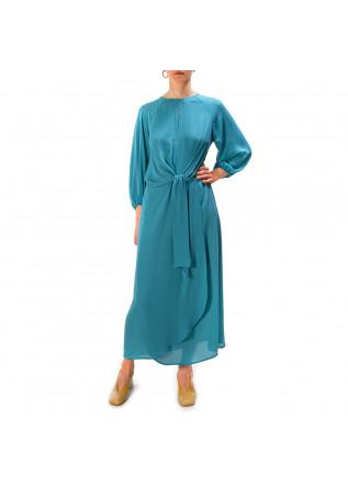 Damenkleidung Kleid Midi Turkisblau Soallure