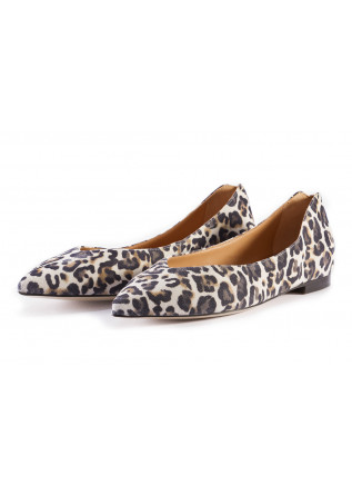 WOMEN'S SHOES FLAT SHOES BALLERINAS LEOPARD PRINT MULTICOLOR MARA BINI