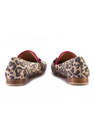 WOMEN'S SHOES FLAT SHOES MOCCASIN LEOPARD PRINT MULTICOLOR MARA BINI