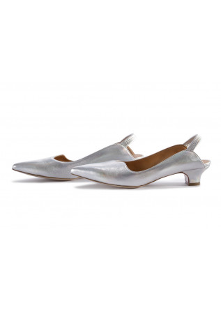 WOMEN'S SHOES FLAT SHOES METALLIC LEATHER SILVER MARA BINI