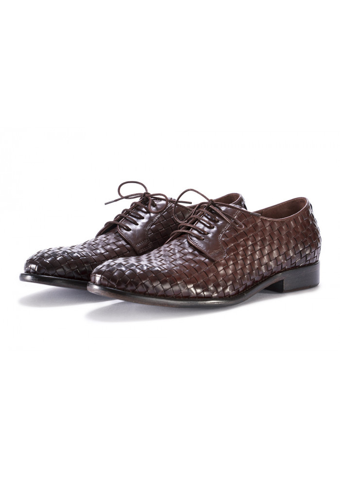 MEN'S SHOES LACE UP LEATHER DARK BROWN PAKROS