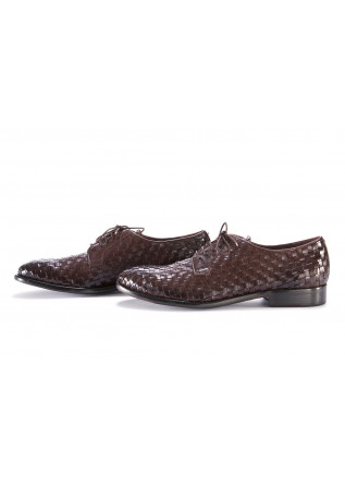 MEN'S SHOES LACE-UP LEATHER DARK BROWN PAKROS