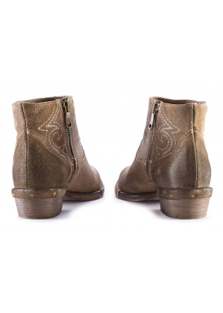 WOMEN'S SHOES ANKLE BOOTS SUEDE HAZELNUT BROWN REPKO