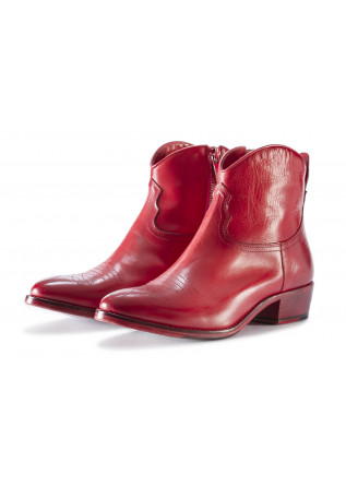 WOMEN'S SHOES BOOTS RED PAKROS