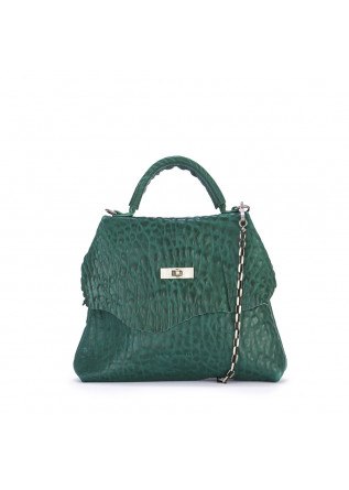 WOMEN'S BAGS HANDBAG SHOULDER BAG SHEEPSKIN GREEN UN TE DA MATTI