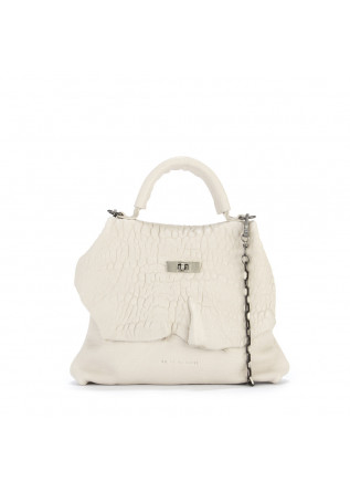 WOMEN'S BAGS HANDBAG / SHOULDER BAG LEATHER CHALK WHITE UN TE DA MATTI