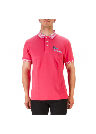 MEN'S CLOTHING POLO SHIRT COTTON PIQUET STRAWBERRY PINK BEST COMPANY