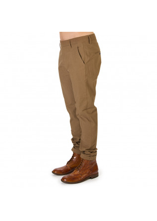 MEN'S CLOTHING CHINO PANTS ELASTICIZED COTTON CLAY BROWN DONDUP