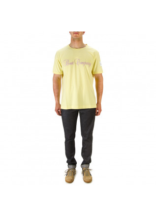 MEN'S CLOTHING T-SHIRTS COTTON LIGHT YELLOW BEST COMPANY