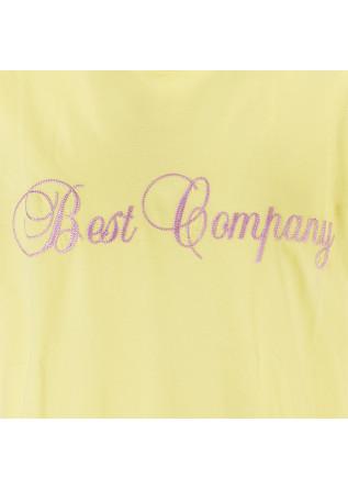 MEN'S CLOTHING T-SHIRTS COTTON LIGHT YELLOW BEST COMPANY