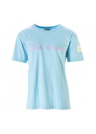 MEN'S CLOTHING T-SHIRT COTTON LIGHT SKY BLUE BEST COMPANY