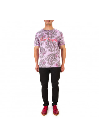 MEN'S CLOTHING T-SHIRT PRINTED COTTON MELANGE PINK BEST COMPANY