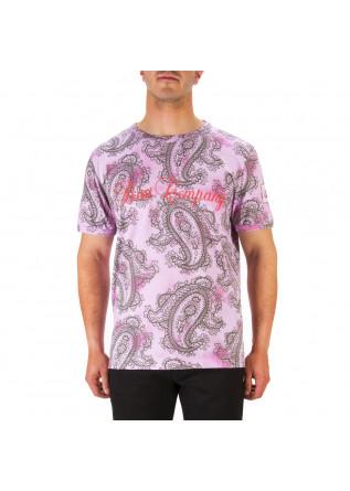 MEN'S CLOTHING T-SHIRT PRINTED COTTON MELANGE PINK BEST COMPANY