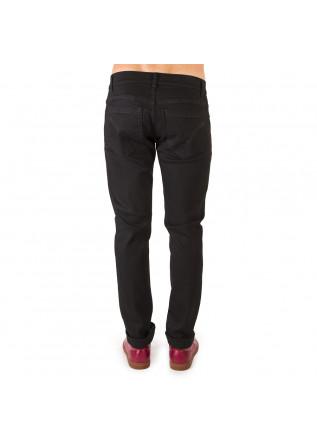 MEN'S CLOTHING JEANS GEORGE COTTON STRETCH 5 POCKETS BLACK DONDUP
