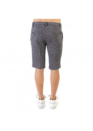 MEN'S CLOTHING SHORTS COTTON LINEN DARK BLUE MASON'S