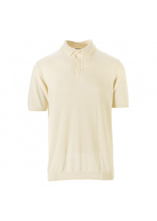 MEN'S CLOTHING POLO MIXED COTTON KNIT BEIGE ROBERTO COLLINA