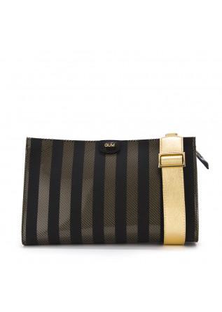 WOMEN'S BAGS CLUTCH / SHOULDER BAG BLACK GOLD VINYL GUM CHIARINI