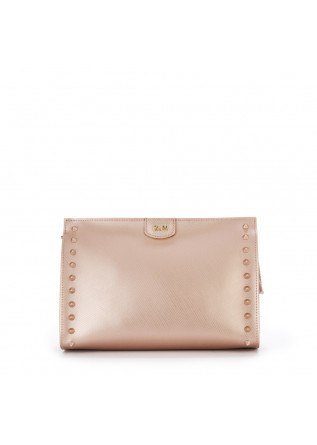 WOMEN'S BAGS CLUTCH BAG POWDER PINK VINYL GUM CHIARINI