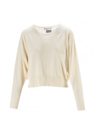WOMEN'S CLOTHING SWEATER COTTON JERSEY LIGHT BEIGE PHISIQUE DU ROLE