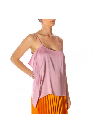 WOMEN'S CLOTHING TOP SATIN VISCOSE PINK SEMICOUTURE