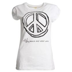 T-Shirt Abbigliamento Donna Happines Bianco