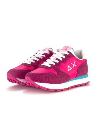 WOMEN'S SHOES SNEAKERS FABRIC / SUEDE FUCHSIA LIGHT BLUE SUN68