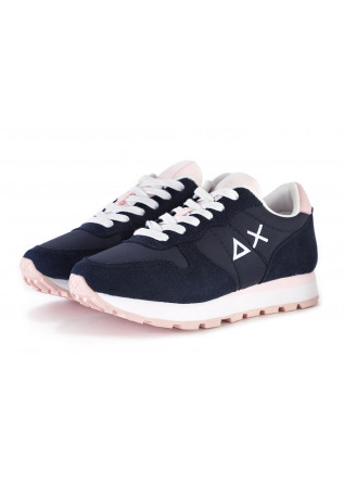 WOMEN'S SHOES SNEAKERS FABRIC / SUEDE BLUE NAVY / PINK SUN68