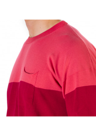 MEN'S CLOTHING SWEATER FINE COTTON STRAWBERRY RED PINK ROBERTO COLLINA