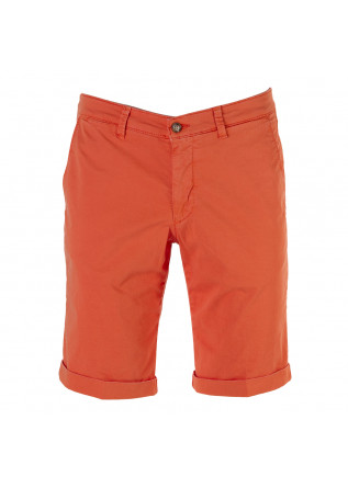 MEN'S CLOTHING SHORTS CHINO ELASTICIZED COTTON ORANGE BRIGLIA
