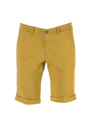 MEN'S CLOTHING SHORTS CHINO COTTON STRETCH MUSTARD YELLOW BRIGLIA
