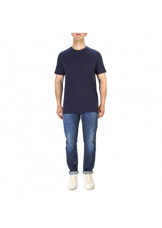 MEN'S CLOTHING T-SHIRT COTTON BLUE NAVY WOOL & CO