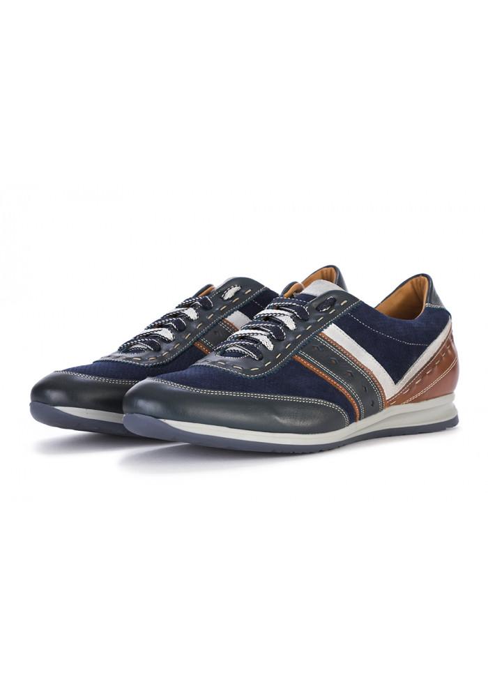 sports shoes 61344 64b25 HERRENSCHUHE FLACHE SCHUHE LEDER / WILDLEDER BLAU MANOVIA 52