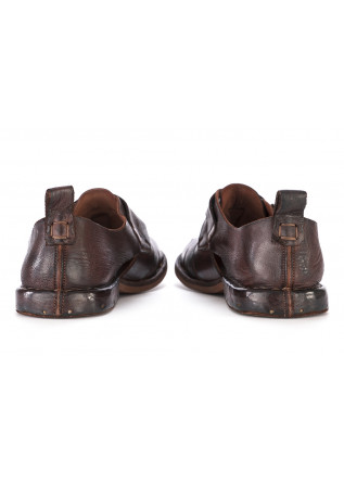 MEN'S SHOES SANDALS LEATHER HANDMADE IN ITALY BROWN MANOVIA 52
