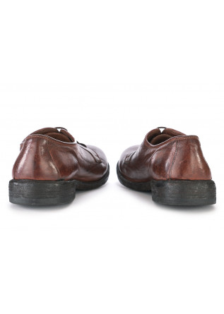 MEN'S SHOES LACE-UP GENUINE LEATHER BROWN MANOVIA 52