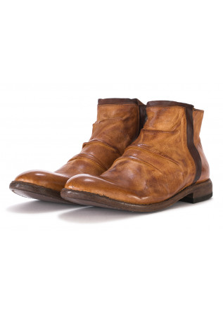 MEN'S SHOES ANKLE BOOTS LEATHER HONEY BROWN / DARK BROWN MANOVIA 52