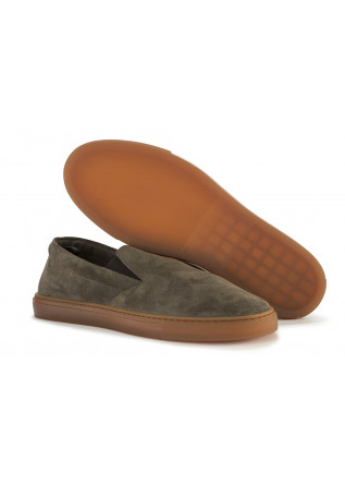 MEN'S SHOES SNEAKERS/ LOAFERS SUEDE LEATHER MILITARY GREEN MANOVIA 52