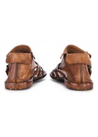 WOMEN'S SHOES SANDALS HANDMADE GENUINE LEATHER BROWN MANOVIA 52