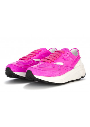WOMEN'S SHOES SNEAKERS FUCHSIA LEATHER WHITE MANOVIA 52